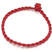 OPK joyas unisex weaved Girl Mujeres pulsera Lucky rojo cuerda cadena Wrap Pulsera jewwlry 19cm