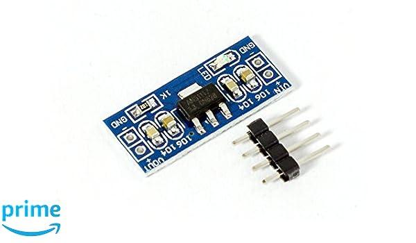 Micro DC-DC Spannungsregler AMS1117 wandelt 4,5V-7V in 3,3V um für Arduino