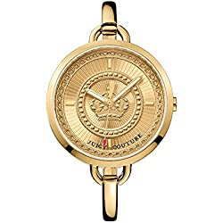 Juicy Couture Lolita women's quartz Watch with gold Dial analogue Display and gold rose gold Bangle 1901173