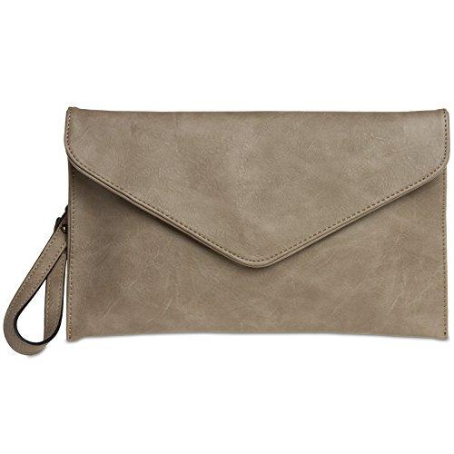 CASPAR Taschen & Accessoires, Poschette giorno donna Taupe
