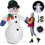 Kesser® Aufblasbarer Schneemann XXL 240cm LED-Beleuchtung Befestigungsmaterial Deko Schneemann Weihnachten, Weihnachtsdekoration, Figur, geräuscharmes Gebläse, witterungsbeständig IP44