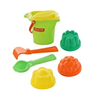 Polesie Polesie2890 141, Flower Sieve, Shovel, Rake No.2, 3 Forms-Sets: Lipped Bucket, Small, Multi Colour