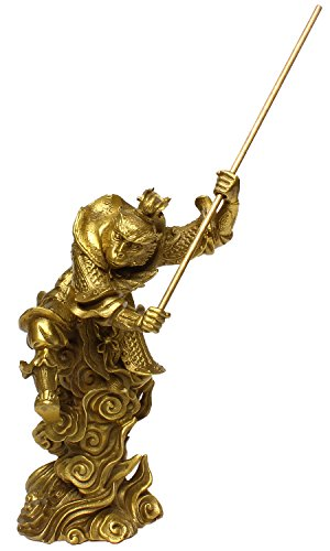 King Orten (Gold Monkey King Figur Sun 20,07° cm (7,9° Einzugs WUNSCHZAHL Geschenk Home decor-7
