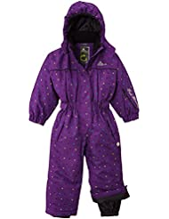 Peak Mountain Fancy/TG – Traje de esquí para, niña, color Morado - violeta, tamaño FR : 4 ans (Taille Fabricant : 4)