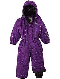 Peak Mountain Fancy/TG-Traje de esquí para, niña, color Morado - violeta, tamaño FR : 8 ans (Taille Fabricant : 8)