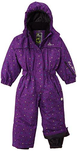 Peak Mountain Fancy/TG–Traje de esquí para, niña, Color Morado - Violeta, tamaño FR : 4 ANS (Taille Fabricant : 4)