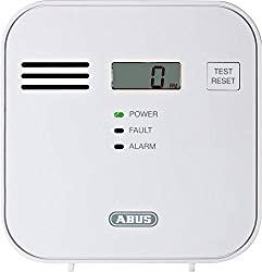 ABUS Carbon Monoxide Alarm COWM300 CO Detector | LCD display incl. CO concentration | Test button | to 60 m² | white | 37241