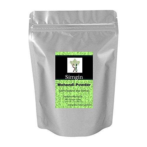 Simgin Mehendi Powder - Pure, Best Quality, 100% Herbal- 100g -SH-M