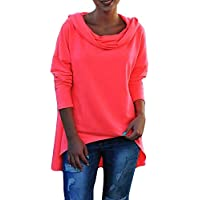 Hanomes Damen pullover, Womens Solid Langarm O-Neck Kausal Kapuzenblusen Tops Shirts Tee Top preisvergleich bei billige-tabletten.eu