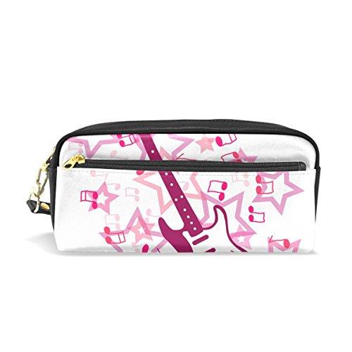 jstel Gitarre Schule Bleistift Tasche für Kid Jungen Kinder Teens Stifthalter Kosmetik Make-up-Tasche Frauen Haltbare Stationery Pouch Bag großes Fassungsvermögen