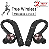 Avantree [Upgraded] IPX5 Wasserdicht TWS True Wireless In Ear Kopfhörer, Sport Ohrhörer, Kabellos Stereo Bluetooth 4.2 Laufen Funkkopfhörer, Wireless Dual Inear Headset mit Mikrofon - TWS109