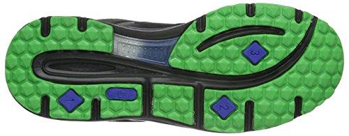 Brütting 111170, Chaussures de Running Compétition mixte adulte Noir (Schwarz/Blau/Lemon)