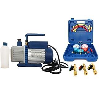 Vakuumpumpe Unterdruckpumpe 42L inkl. Monteurhilfe R410a + Kugelventile auch für R32 geeignet, der Druckbereich ist mit R410 gleich.