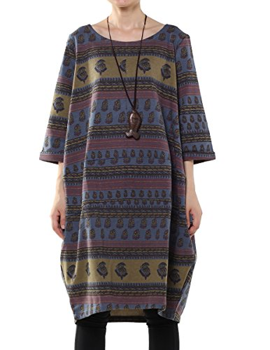 Vogstyle Donna Felpa Stampata Da Moda Stile-1 Blu