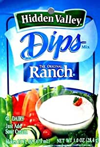 Hidden Valley Ranch Dressing Dip Mix 1oz - Makes 16 FL OZ