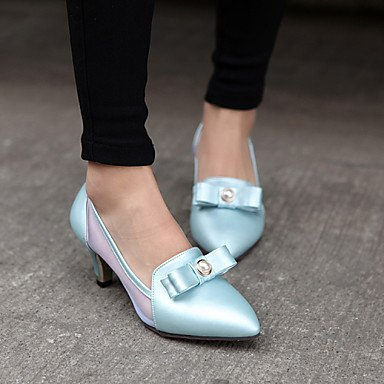 CH&TOU Scarpe Donna - Scarpe col tacco - Tempo libero / Ufficio e lavoro / Casual - Tacchi / A punta - Quadrato - Finta pelle -Blu / Rosa / white