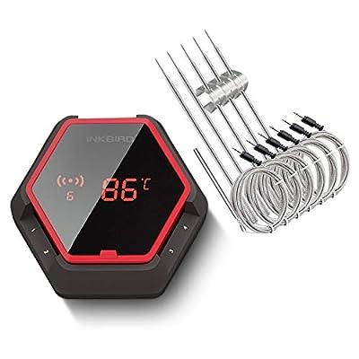 Inkbird Barbeque Fleisch Thermometer Digitale Bluetooth Raucher Funk-Grillthermometer IBT-6X