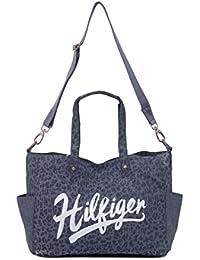 TOMMY HILFIGER - Bolso Con Broche, Mujer, Color: Gris/Azul,Talla: U