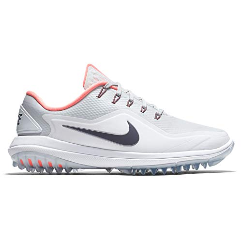 Nike Wmns Lunarcontrol Vapor 17, Scarpe da Golf Donna, Bianco (Blanco/Plata 002), 40.5 EU