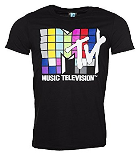 MTV Music Television 80s Logo Mens Official T Shirt