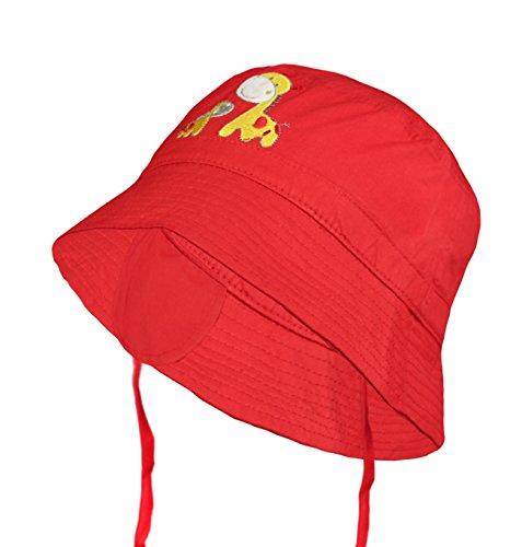 Galeja Kinder Sommer Mütze Hut 2 Tragevarianten Farbe Rot Gr. 52/53 Jungen Mädchen Schlapphut Sonnenhut (Piraten-baseball-jersey)