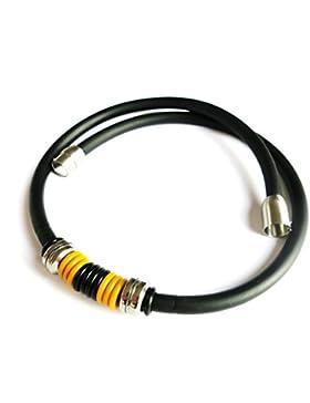 Kautschukhalsband 5mm, Fankette, Kautschukband mit rostfreiem Bajonet-Magnetverschluss aus Edelstahl, KHB 2017...