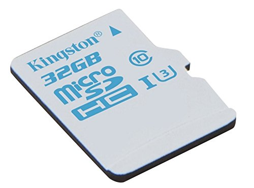 Kingston SDHC/32GB - Tarjeta de memoria microSD de 32 GB para Action Camera (UHS-I U3, para GoPro y drones, con adaptador SD)