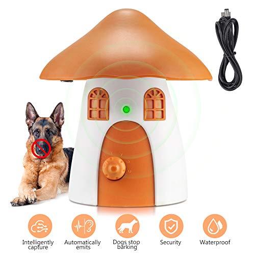 Anti-Bellgerät, Ultraschall Hundebellen Abschreckung, Automatische Rindenstoppvorrichtung für Hunde Bellen Training mit internem Mikrofon