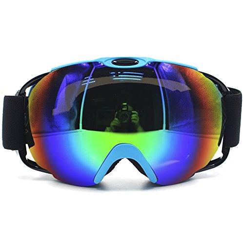 Profesional UV protección antiniebla anti-viento doble capa lentes ga