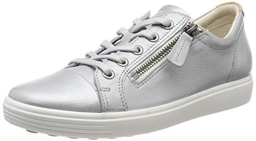 Details zu Ecco SOFT 8 MEN`S Herrenschuhe Mid cut Sneaker blau NEU
