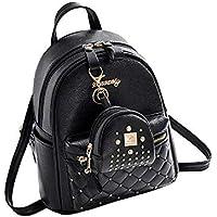 6ebf45d065 Mini zaino in pelle PU carino casual impermeabile scuola borsa da viaggio  Daypacks piccola borsa per