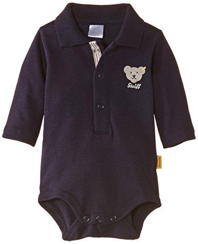 Steiff Unisex - Baby Body 0008713 1/1 Arm, Einfarbig, Gr. 98, Blau (Steiff Marine)