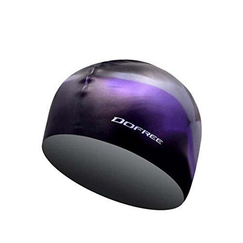 Black Temptation Professionelle spezielle Silikon-Schwimmen-Kappe ungiftige Silikon-weiche Schwimmen-Kappe, A 4