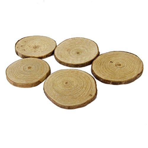NUOLUX-Wood-Log-Slices-Discs-for-DIY-Crafts-Wedding-Centerpieces-5-6CM-20pcs-Importado-de-UK