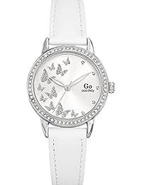 Go girl only 698605 - Reloj de pulsera mujer, piel, color blanco