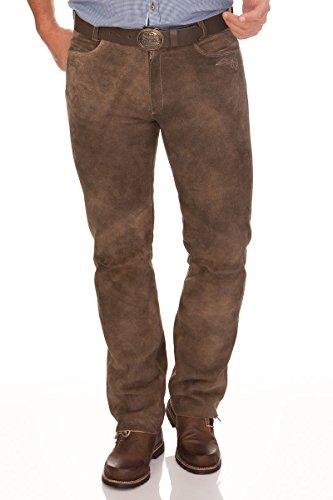 Lange Trachten Lederhose - ALDO - rehbraun, Größe 48