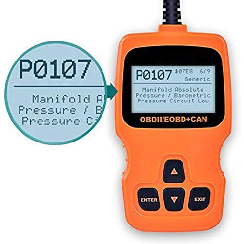 OM123 OBD2 OBDII Car Engine Automotive Fault Code Reader Diagnostic Scanner Tool for Toyota Audi Honda Chevrolet Mazda Skoda (Cid Lcd)