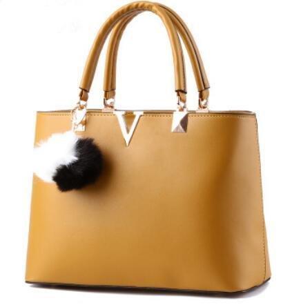 HQYSS Damen-handtaschen Ms.-PU-Leder süße Lady v-förmige Messenger Portable Umhängetasche khaki