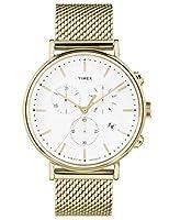 Timex Reloj Cronógrafo para Unisex Adultos de Cuarzo con Correa en Acero Inoxidable TW2R27200 de Timex