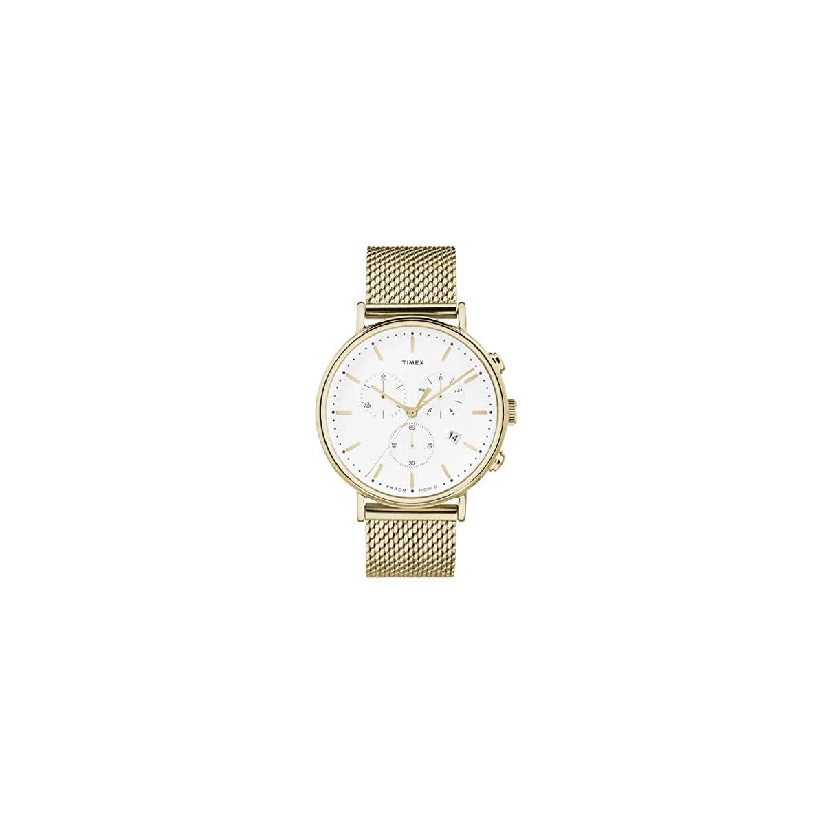 41nM%2BleqvRL. SS1200  - Timex Reloj Cronógrafo para Unisex Adultos de Cuarzo con Correa en Acero Inoxidable TW2R27200
