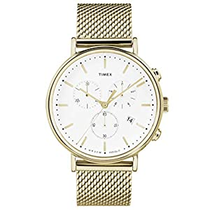 Timex Reloj Cronógrafo para Unisex Adultos de Cuarzo con Correa en Acero