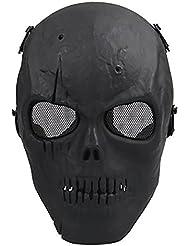 Airsoft–Máscara de protección para máscara Negro Militar