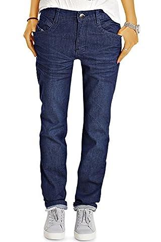 Bestyledberlin Damen Jeans, Klassische Hüftjeans Loose Fit, Weite Straight Leg Jeanshosen j55i 30