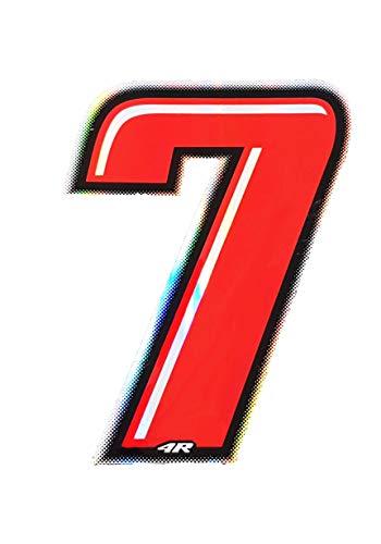 Quattroerre 13267Número Racing 7, rojo, 10x 6,5cm