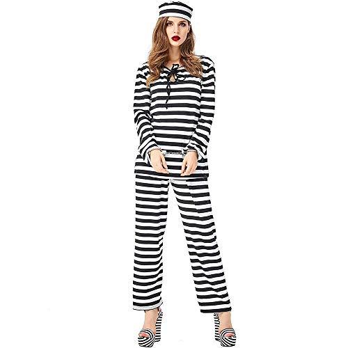 Gefangenen Frauen Kostüm - Hcxbb-b Frauen Gefangener Verkleiden Sich, Kostüm Halloween-Kostüm (Size : XL)