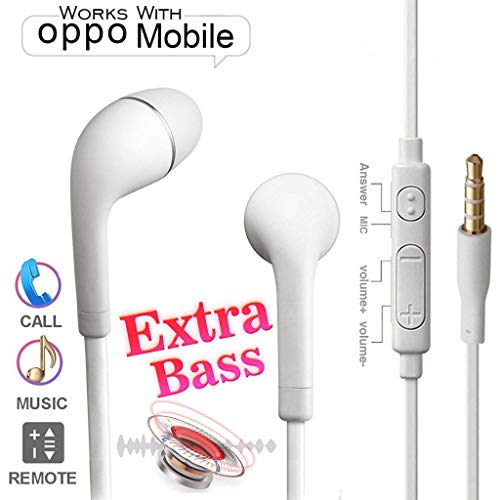 Earphone 3.5mm for Oppo A37, Oppo A37F, Oppo A57, Oppo A71, Oppo Neo 7, Oppo Neo 5, Oppo R1, Oppo A83 - White