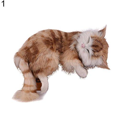 mAjglgE Kreative Simulation Katze Niedliche Hausschuhe Kätzchen Spielzeug Tier Kinder Geschenk Auto Dekoration - Braun braun (Erwachsene Kätzchen-hausschuhe Für)