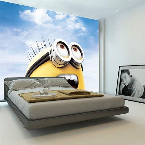 3D Karikatur Tapete Schergen Fototapete Wandbild Junge Mädchen Kinder Schlafzimmer Raumdekoration Wohnzimmer Flur Meine Mich B) 200X (H) 150Cm ()