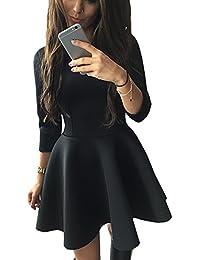 Suchergebnis auf Amazon.de für: langarm minikleid schwarz ...