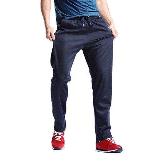 ❤️Pantalons Homme, Amlaiworld Hommes Solide Pantalons Sport Hip Hop Jogging Pantalons de Jogging en Coton Lâche et Flexible Trousers (L2, Bleu Foncé)
